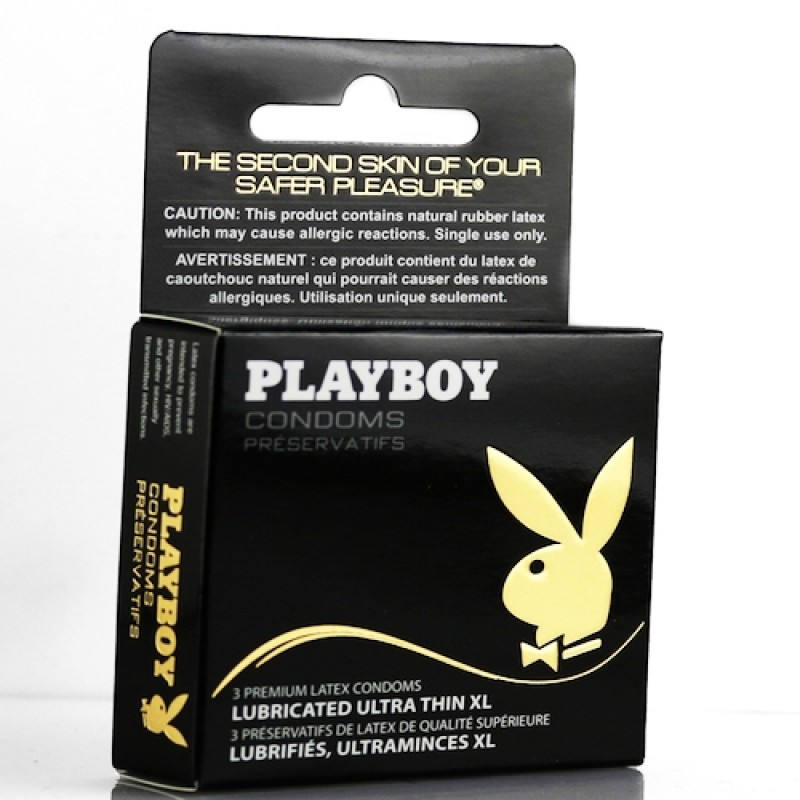 Playboy Condoms - Lubricated Ultra Thin XL 3 Pack