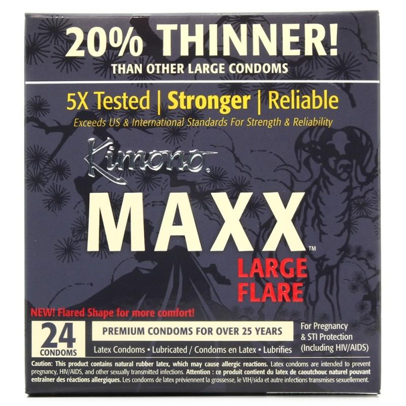 Kimono Maxx Large Flare Condoms in 24 Pack