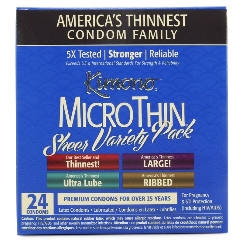 MicroThin Sheer Condom Variety Pack in 24 Pack