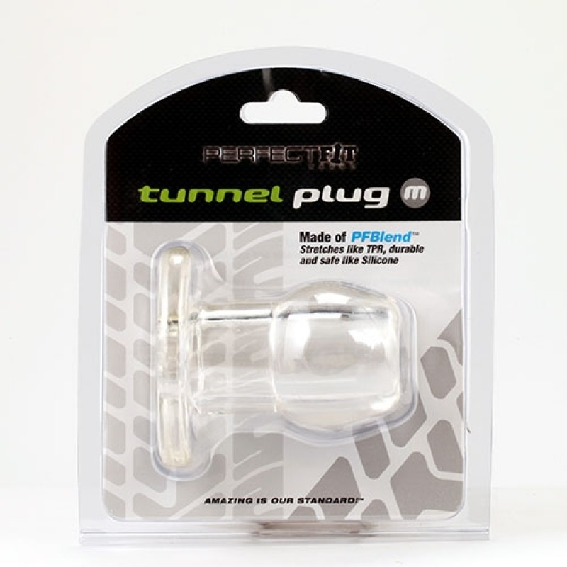 Medium Tunnel Plug in Clear