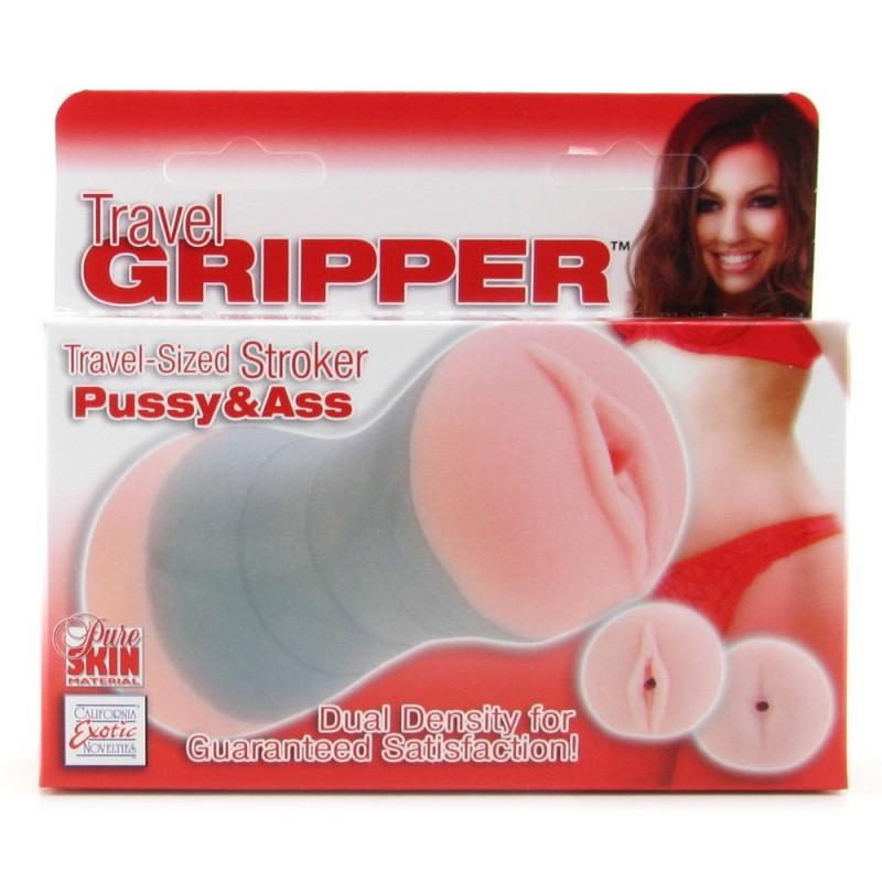 Travel Gripper Pussy & Ass Masturbator