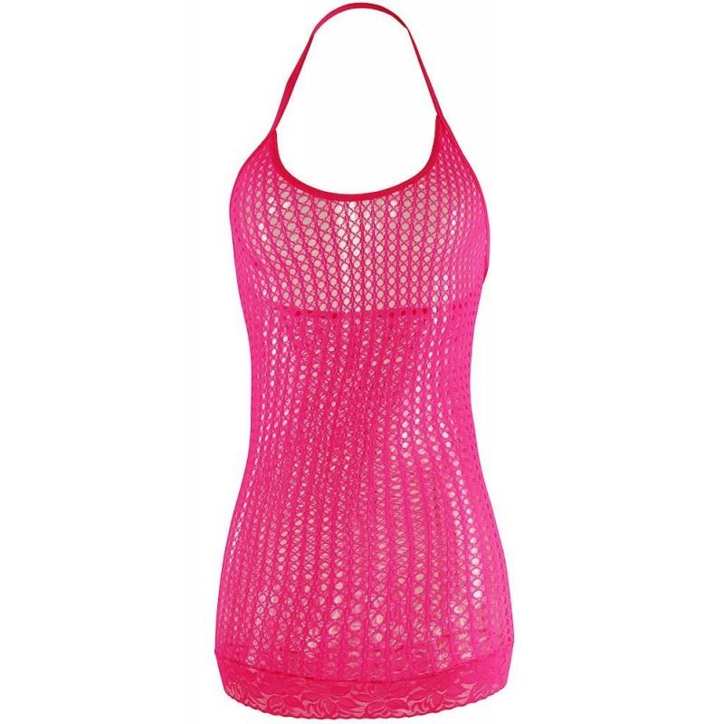 OS Pink Lace Mini Dress