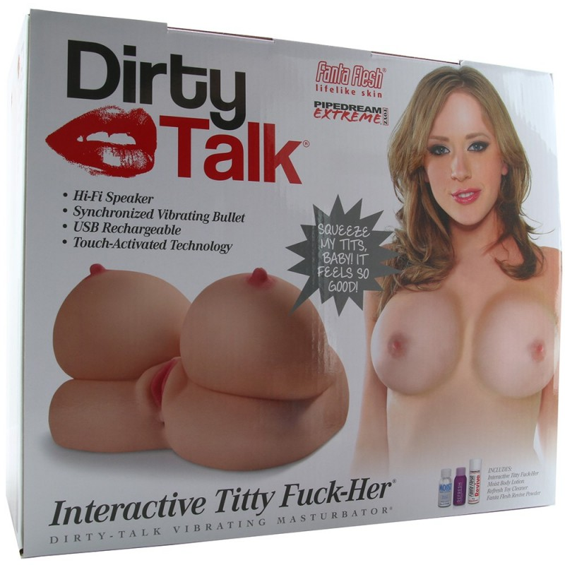 Dirty Talk Interactive Titty F*ck Her Masturbator