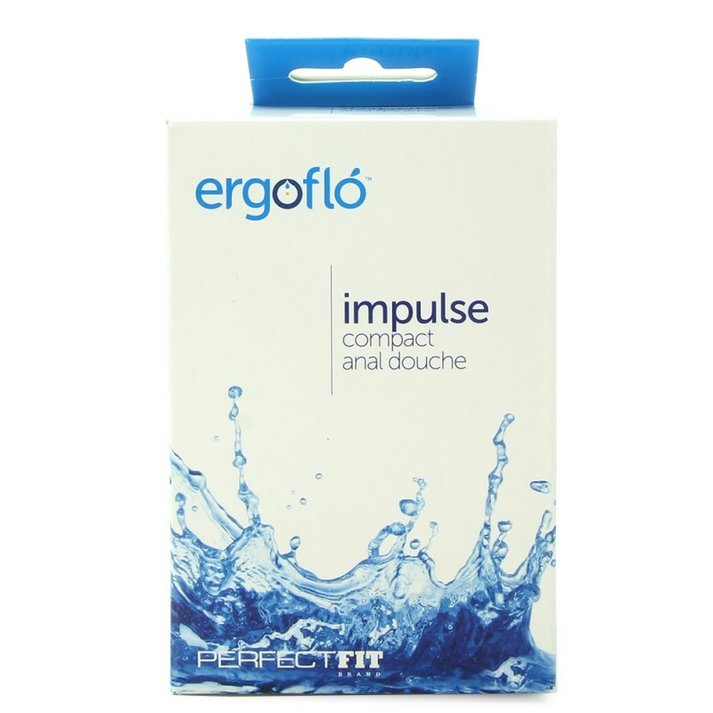 Ergoflo Impulse Compact Anal Douche in Black