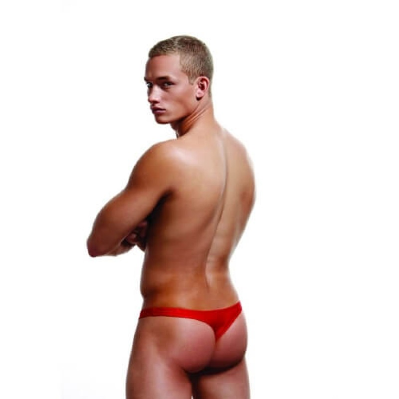 M/L Red Low Rise Thong