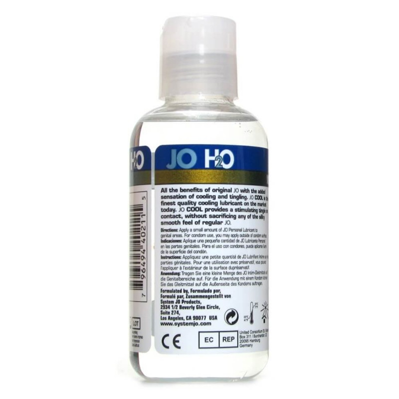 H20 Cool Anal Personal Lubricant in 4oz/120ml