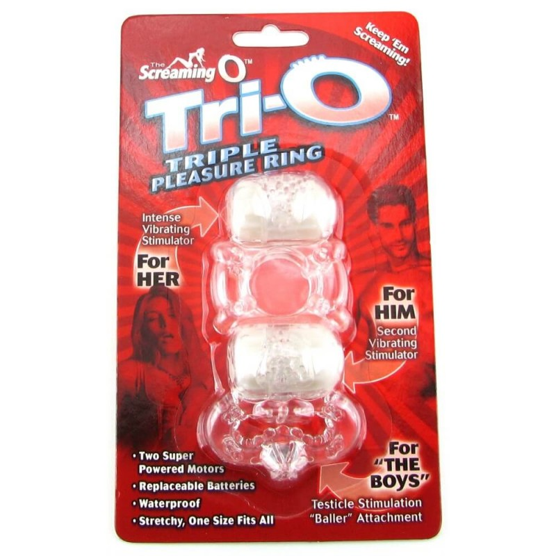 Tri-O Triple Pleasure Ring in Assorted Colors