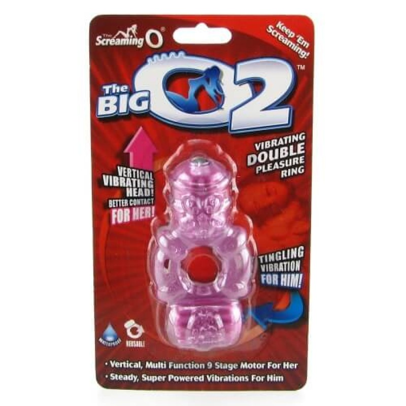 Big O2 Double Pleasure Vibrating Ring in Assorted Colors