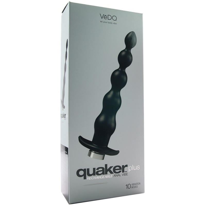Quaker Plus Rechargeable Anal Vibe in Just Black
