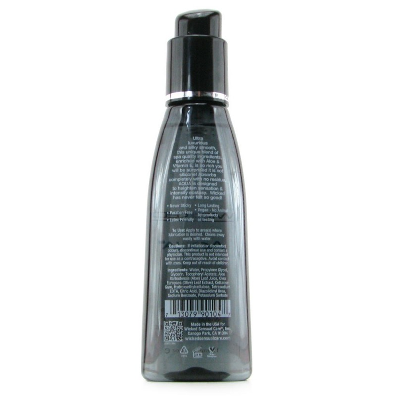 Aqua Fragrance Free Water Based Lubricant in 4oz/120ml