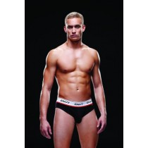 M/L Envy Logo Low Rise Bareback Brief Black