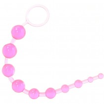 X-10 Anal Beads in Pink