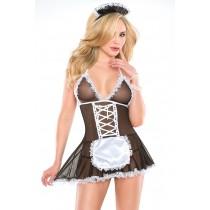 French Maid Babydoll & Headpiece in OS