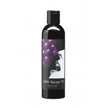 Edible Massage Oil 8oz/236ml in Gushing Grape