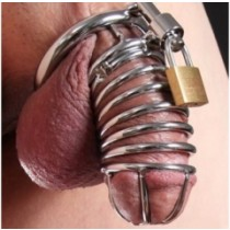 Metal chastity cage 4cm