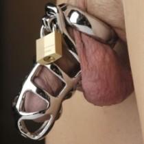 Metal Lock chastity 4.5 cm
