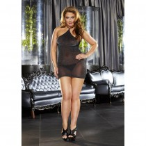 OSXL VIP Black Mini Skirt One Piece
