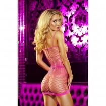 OS Hot Pink Pop 'N Lock Mini Dress