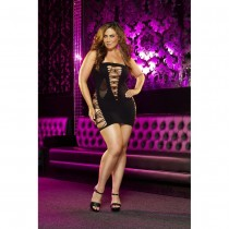 OSXL Backroom Black Mini Dress