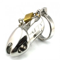 Male chastity stainless steel lock sleeve Size 4.7 cm
