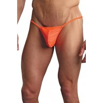 L/XL Orange Euro Male Pouch G-String