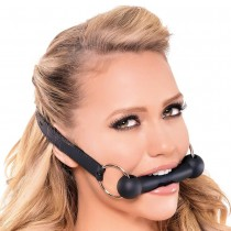 Silicone Bit Gag in Black