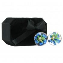 CyberGlass Ben Wa Balls in Blue Blossom