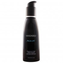 Aqua Fragrance Free Water Based Lubricant in 4oz/120ml