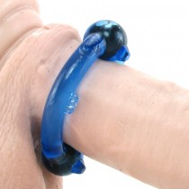 Magnetic Power Single Cock Ring in Blue
