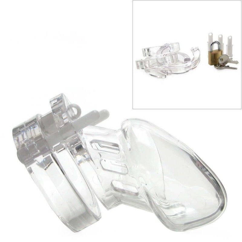 Male Chastity Device Clear in 2 1/2 Inch