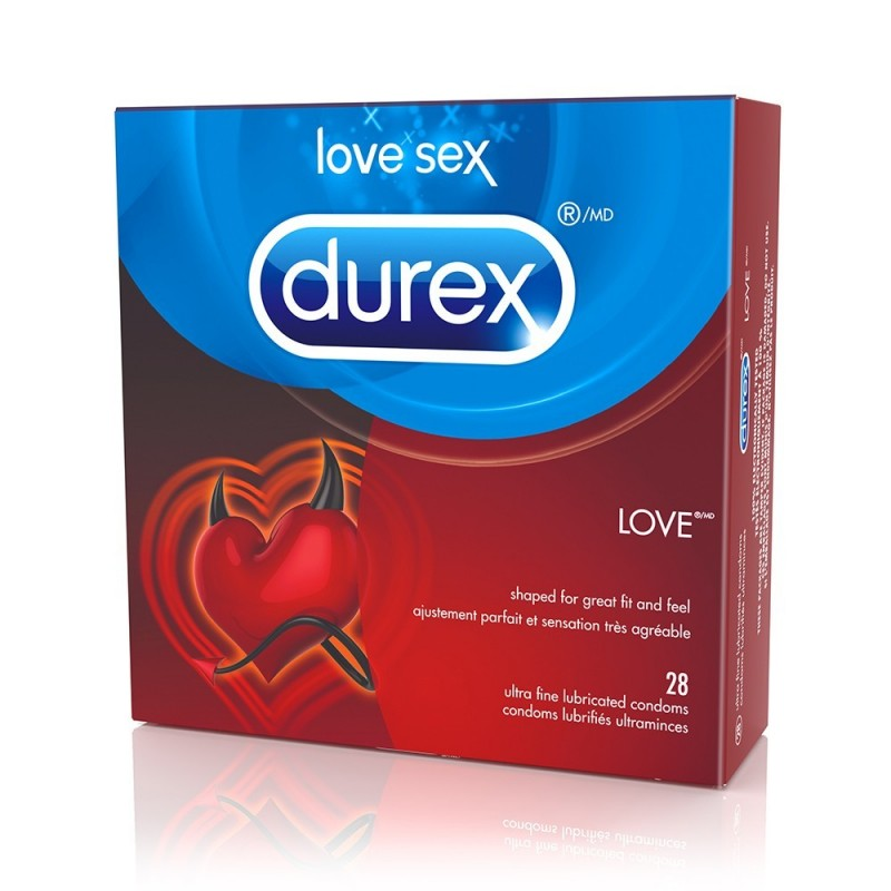 Love Lubricated Condoms in 4 Pack
