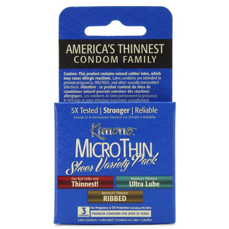 MicroThin Variety Pack Condoms in 3 Pack