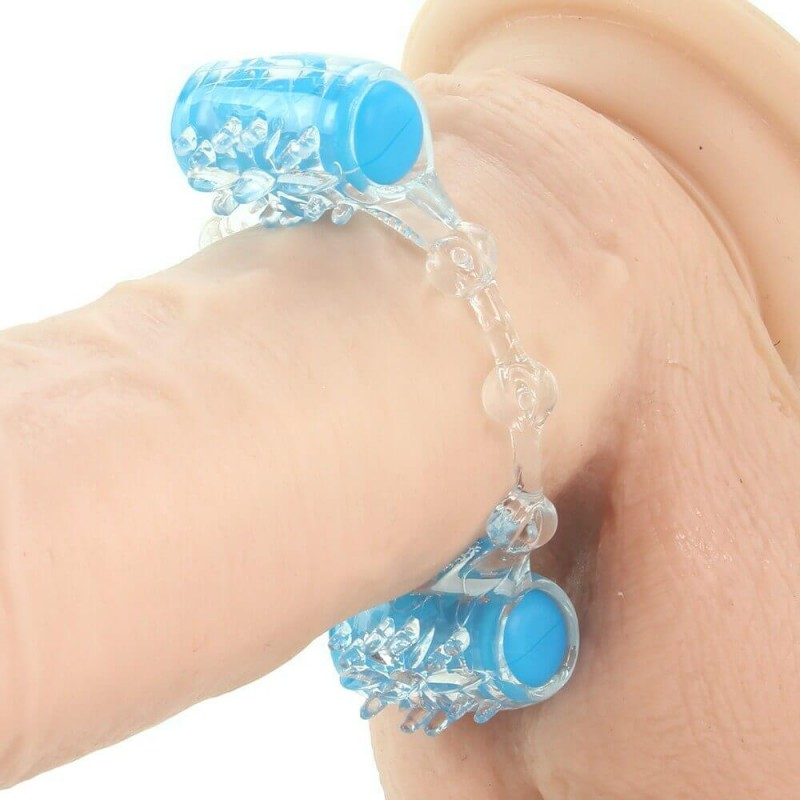 Quickie Two-O Double Pleasure Cock Ring in Blue