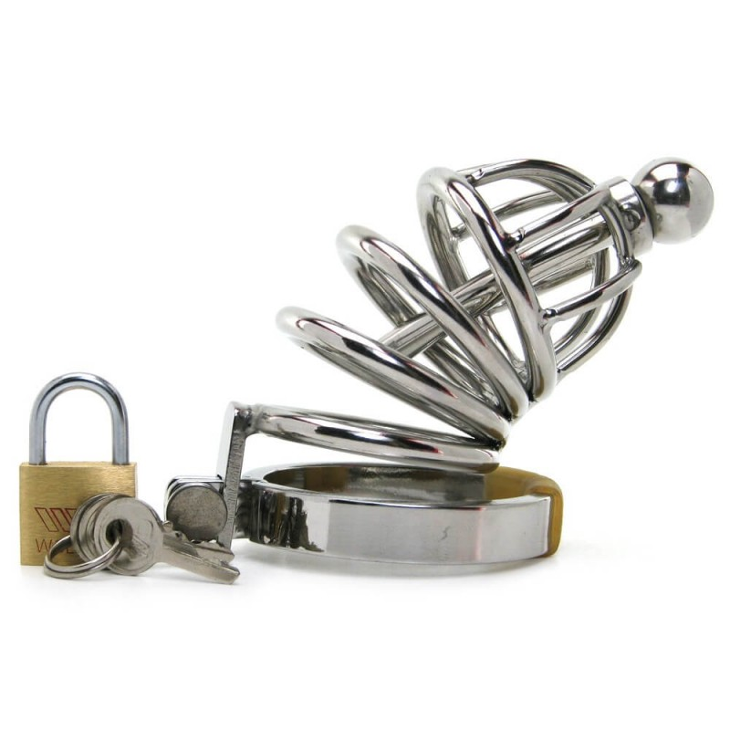 Master Series Asylum 4 Stainless Steel Chastity Cage