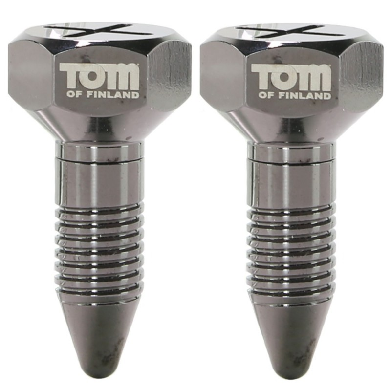 Tom of Finland Bro's Pin Magnetic Nipple Clamps